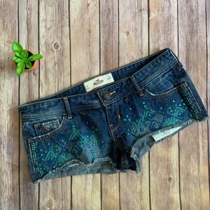 Hollister Embroidered Shorts Sz. 5